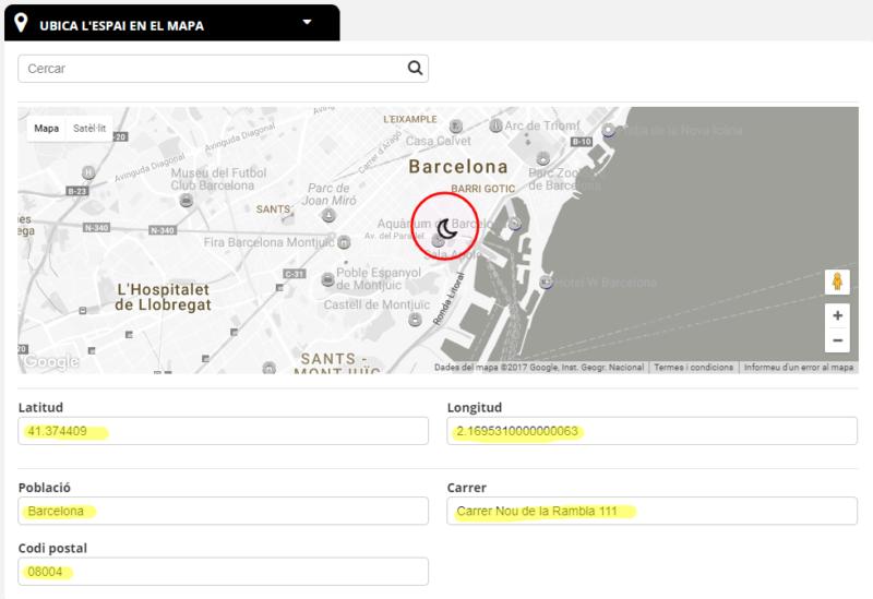 Nuevo espacio buscador mapa datos automáticos