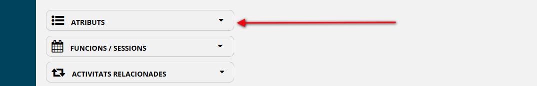 Dins de l'apartat Programació hi ha la secció Atributs